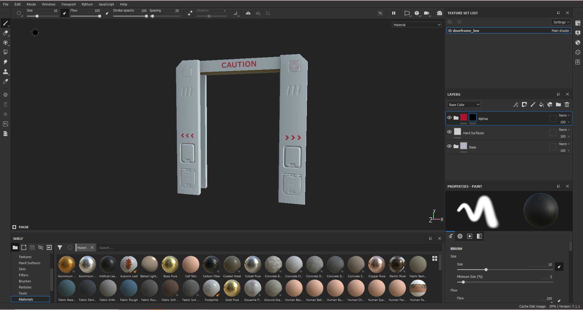 image of 3D modelling software